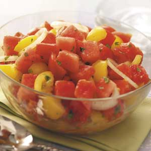 Watermelon and Cherry Tomato Salad